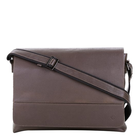 8f832d370b Bolsa Carteiro Couro Capodarte - Marrom Escuro