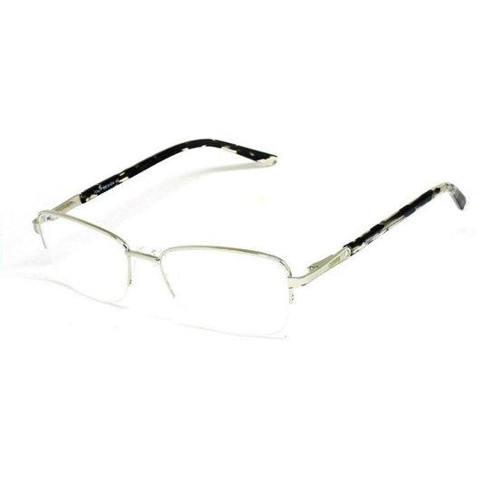 7955b7dc73a3f Armação De Óculos De Grau Casual Cannes 1015 T 53 C Metal Feminino - Prata