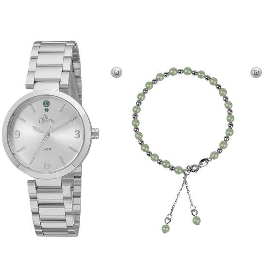 6db7d6c40e9 Kit Relógio Allora Feminino - Prata - Compre Agora