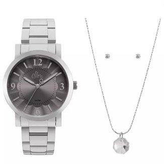 Kit Relógio Allora Feminino Al2035fnc K1c Com Semi 4ed82767bb