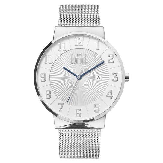 Relógio Dumont Slim DU2115AAG 3T Masculino - Prata - Compre Agora ... ad534573f5