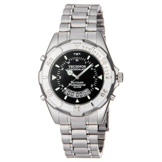 Relógio Technos Pulseira de Aço - Prata - Compre Agora   Zattini 879d93e65b