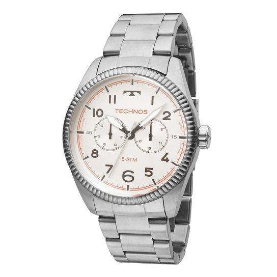 b7ba62eca04 Relógio Technos Masculino 6P25BK1B - Prata - Compre Agora