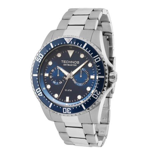 2c60616fda3 Relógio Technos Masculino 6P25BG1A - Prata - Compre Agora