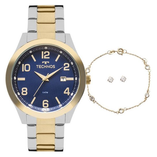 Kit Relógio Technos 2115Kzu K5a Feminino - Compre Agora   Zattini 483d1d8266