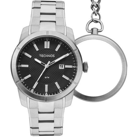 b131d242168 Relógio Masculino Technos Bolso e Pulso GM10YD 1P 45mm Aço Prata - Prata