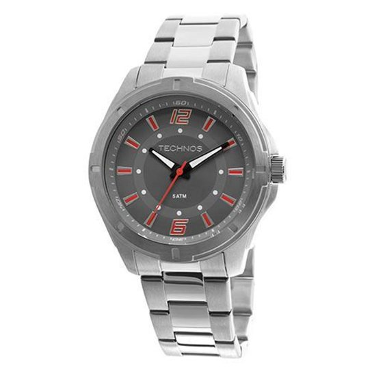c5c9710506e Relógio Masculino Technos 2036LOD 1R 44mm Pulseira Aço Prata - Prata
