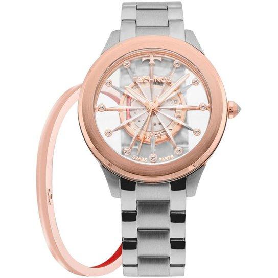 77f10b8cd77 Relógio Technos Feminino Essence - F03101AB K1W F03101AB K1W - Prata