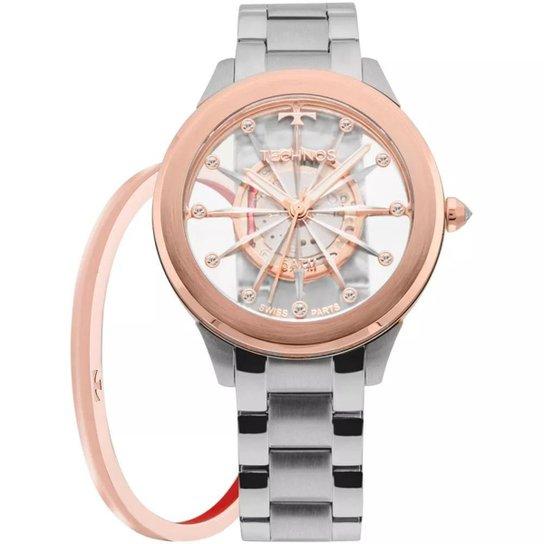 3d86f34e5b11e Relógio Feminino Technos Elegance F03101AB K1W Aço - Compre Agora ...