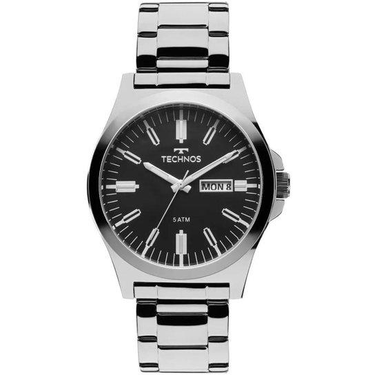 5b6612a7479 Relógio Masculino Technos 2305AX 1P 43mm Aço - Prata - Compre Agora ...