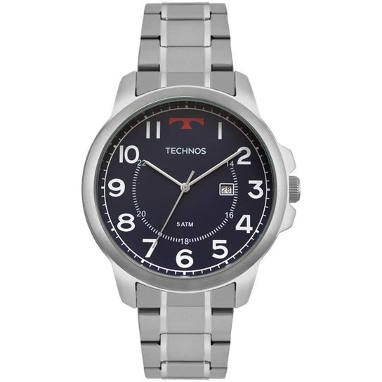 Relógio Technos Masculino Steel - 2115MOZ 1A 2115MOZ 1A - Prata ... a65a212ffa
