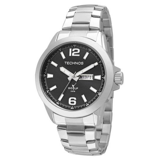Relógio Technos Golf Masculino Analógico - 2105AV 1P 2105AV 1P - Prata 97d931f6f5