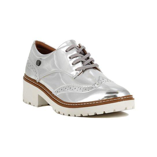 8a8286d533 Sapato Oxford Feminino Metalizado Prata | Zattini