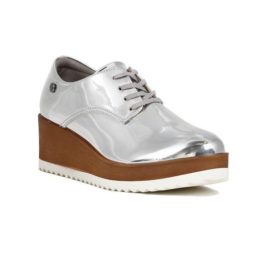 865b1fa5c3 Sapato Oxford Feminino Metalizado - Compre Agora