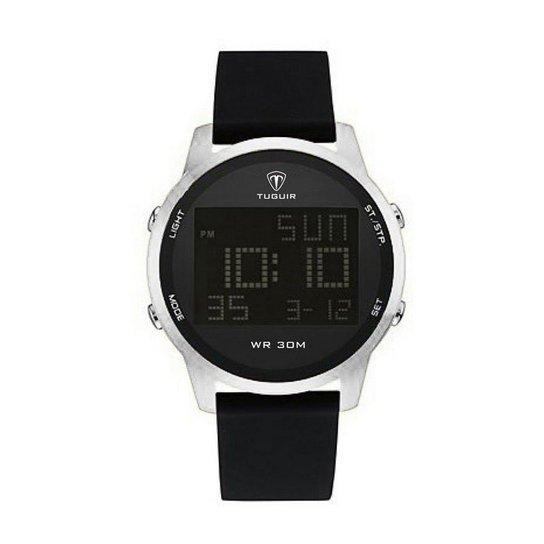 6e7abebae8e Relógio Masculino Tuguir Digital TG7003 - Prata - Compre Agora