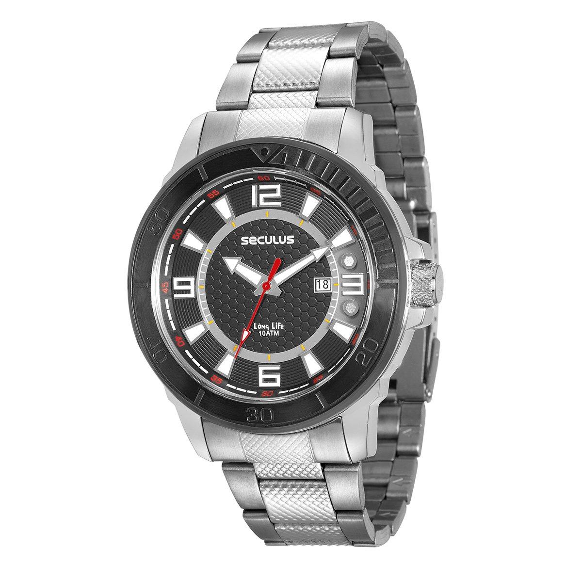 21f8aeb607d Relógio Seculus Analógico Masculino 23561GPSVCA1