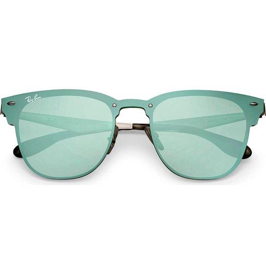 Óculos de Sol Ray Ban Blaze Clubmaster RBN - Prata - Compre Agora ... 534fc79185