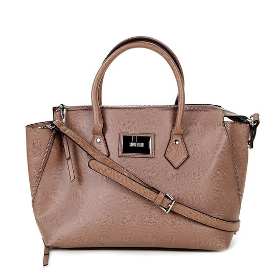 Bolsa Santa Lolla Handbag Texturizada Placa Feminina - Compre Agora ... 1448560c1bfcf