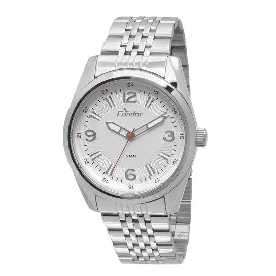 1d506cf0612a2 Relógio Condor Masculino CO2035KQC 3K - Prata - Compre Agora   Zattini