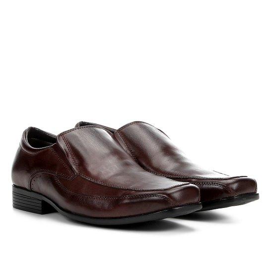 452d43a06b Sapato Social Couro Walkabout Sem Cadarço Masculino - Marrom Escuro ...