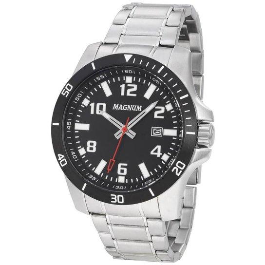 7283a1ba344 Relógio Magnum Masculino Sports MA35057T - Prata - Compre Agora ...