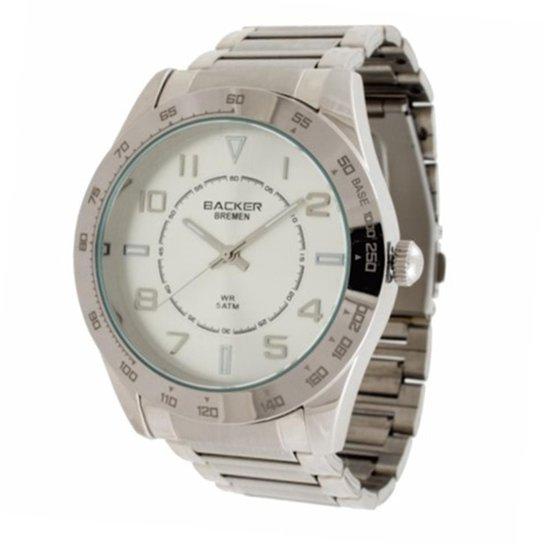 ae67449a648 Relógio Feminino Backer Analógico 3402123F - Prata - Compre Agora ...
