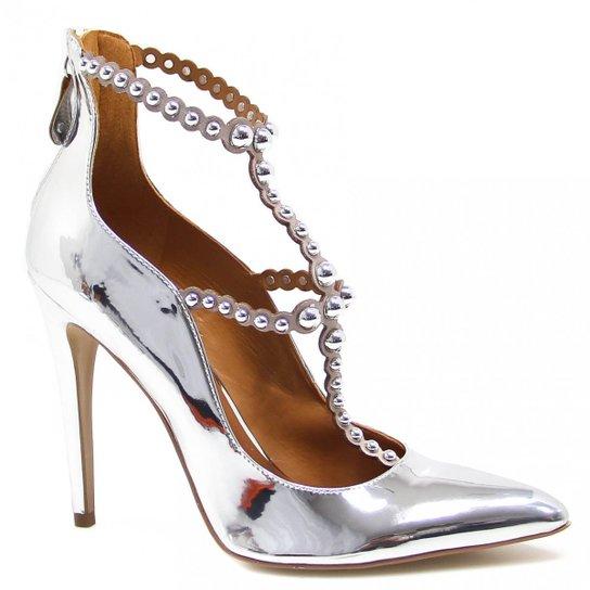 8d9e43dc9 Sapato Cecconello Scarpin Pedras Metalizado - Compre Agora
