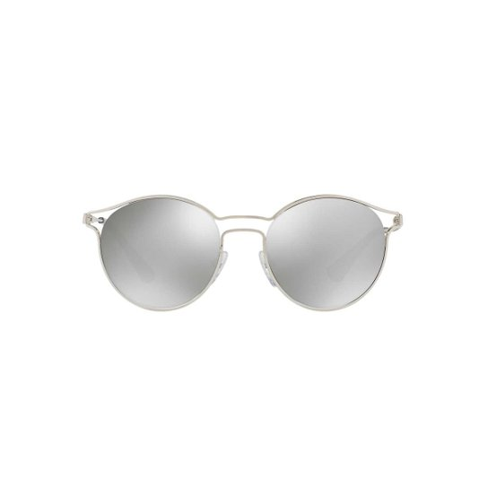 45d1041d6254e Óculos de Sol Prada Redondo PR 62SS Cinema Feminino - Prata - Compre ...