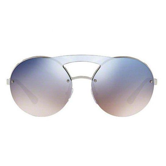 aa564ea1f93fa Óculos de Sol Prada PR Feminino - Prata - Compre Agora