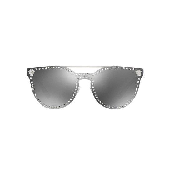 efb58f567 Óculos de Sol Versace Gatinho VE2177 Feminino - Prata | Zattini