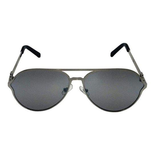 Óculos de Sol Khatto Aviador Details Masculino - Prata - Compre ... 874e8e0c33
