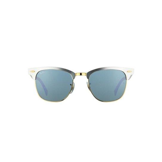 Óculos de Sol Ray Ban Clubmaster Aluminum - Prata - Compre Agora ... 32e3dceecc