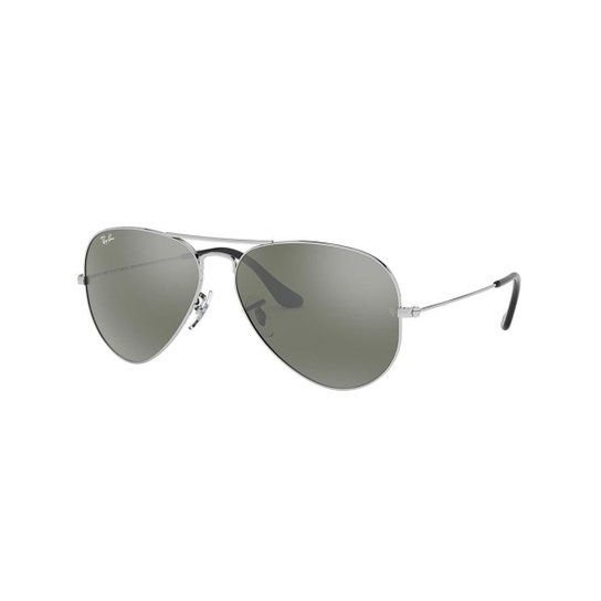 Óculos de Sol Ray-Ban RB3025 Aviator Large Metal - Prata - Compre ... cd53eb5593