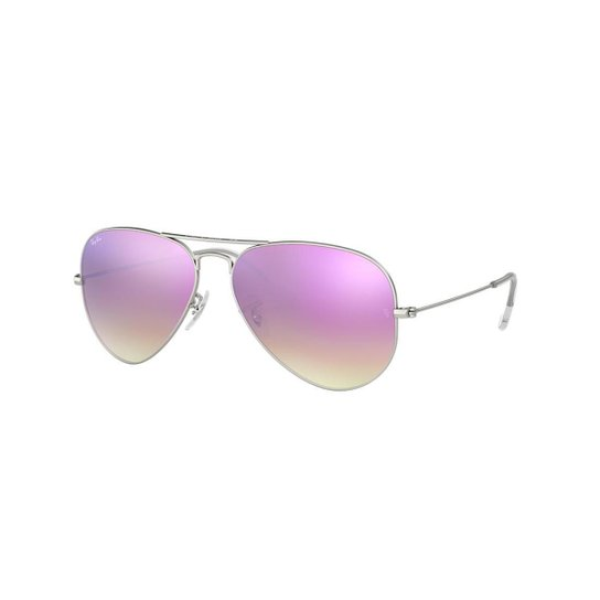 6238a7286 Óculos de Sol Ray-Ban RB3025 Aviator Lentes Espelhadas - Prata | Zattini