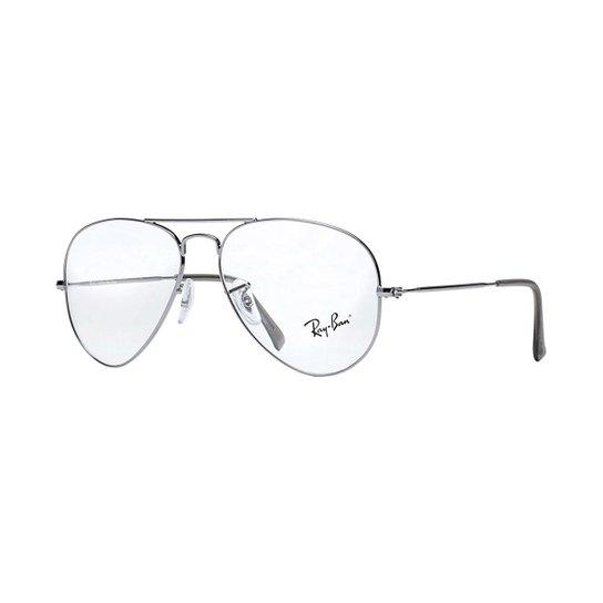 Armação de Óculos Ray-Ban RB6049L - Prata - Compre Agora   Zattini ebee414415