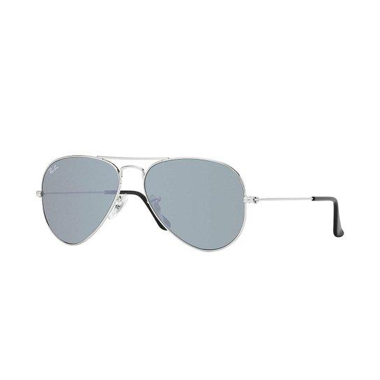 Armação de Óculos Ray-Ban Aviator - Prata - Compre Agora   Zattini 550bd9f348