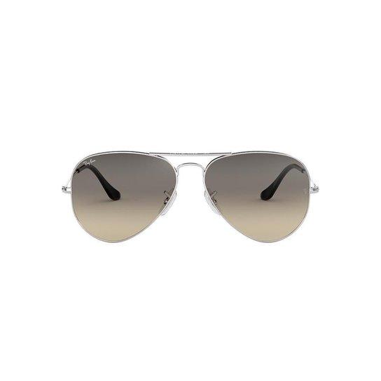 Óculos de Sol Ray-Ban Aviator Rb3025 Feminino - Prata - Compre Agora ... 3731f0bbac