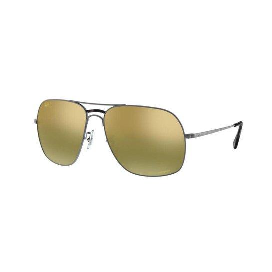 e89ec38e4 Óculos de Sol Ray-Ban Rb3587 Masculino - Prata | Zattini