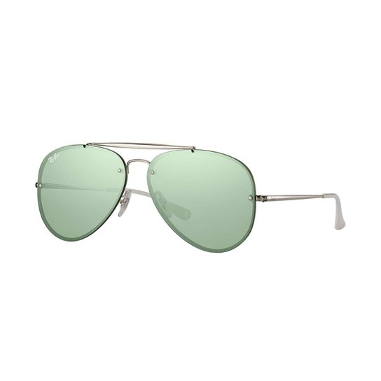 Óculos de Sol Ray-Ban Blaze Aviator Feminino - Prata - Compre Agora ... 8c15186a98