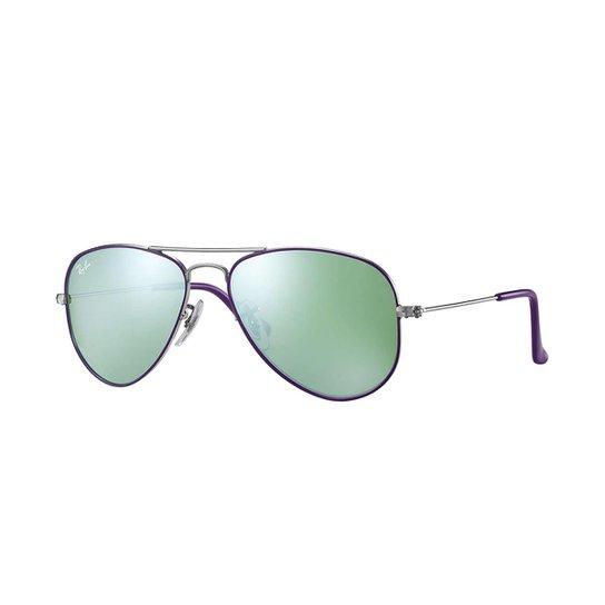 Óculos de Sol Ray-Ban Junior Aviator - Prata - Compre Agora   Zattini d270299509