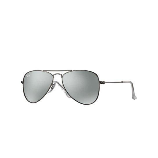 a2f5415a4 Óculos de Sol Ray-Ban Junior Aviator Feminino - Prata | Zattini