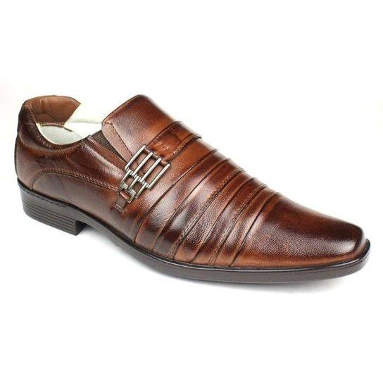 c49a6fe72e Sapato Social Masculino Palmilha Gel com Amortecedor Ranster - Marrom Escuro