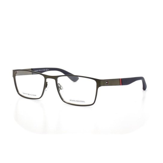 b8aa35d84 Armação De Óculos De Grau Tommy Hilfiger 1543 T 56 C R80 - Grafite
