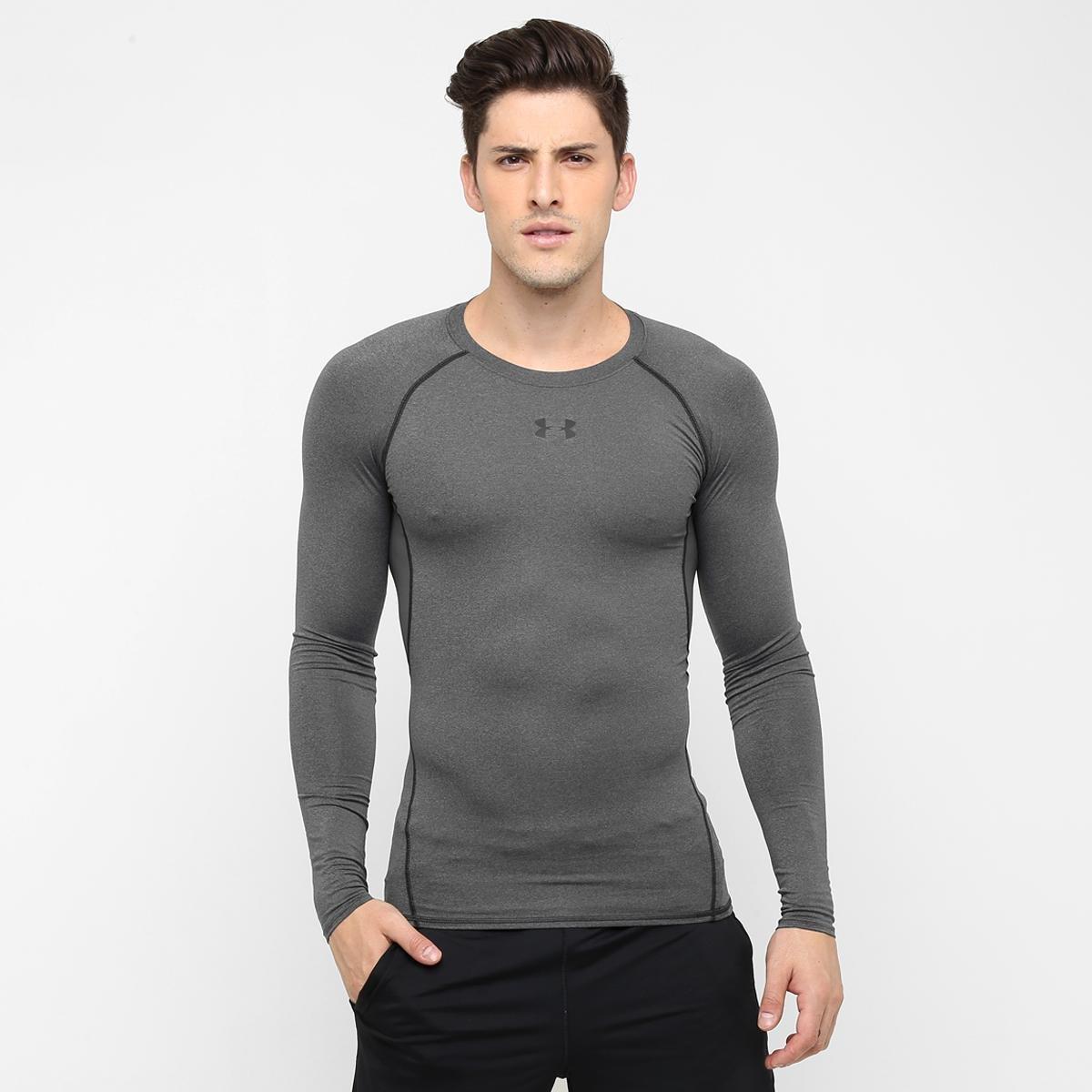 Camisa de Compressão Under Armour HG Manga Longa Masculina  767019c8e4f19