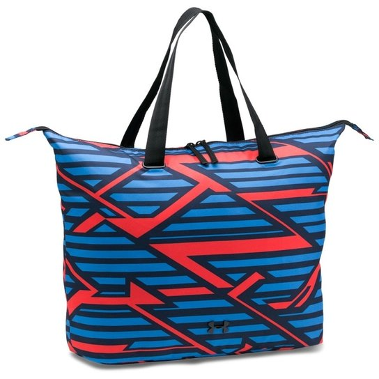 3f7a4548f01 Bolsa Under Armour Ua On The Run Tote Printed - Azul e Vermelho ...