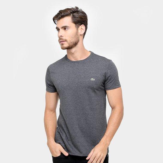 Camiseta Lacoste Básica Jersey Masculina - Grafite - Compre Agora ... 369b936572