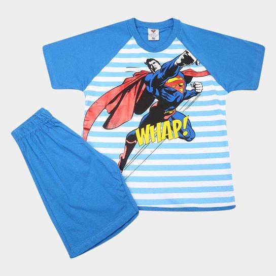 059910a25bca1 Pijama Infantil Lupo Curto Superman Masculino - Compre Agora