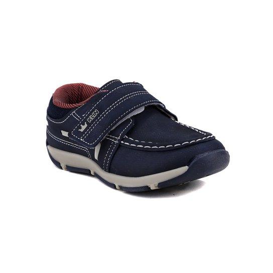 325f91314 Sapato Infantil Para Bebê Menino Klin - Azul Marinho/Vermelho -  Azul+Vermelho