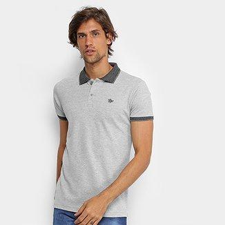Camisa Polo RG 518 Lisa Gola Quadriculada Logo Metalizada Masculina fc5e8ccc525f9