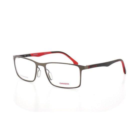 ab0b02cf6a05d Armação De Óculos De Grau Carrera 8827 V T 55 C Blx Masculino - Grafite